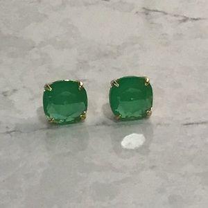 Kate Spade large green stud earrings